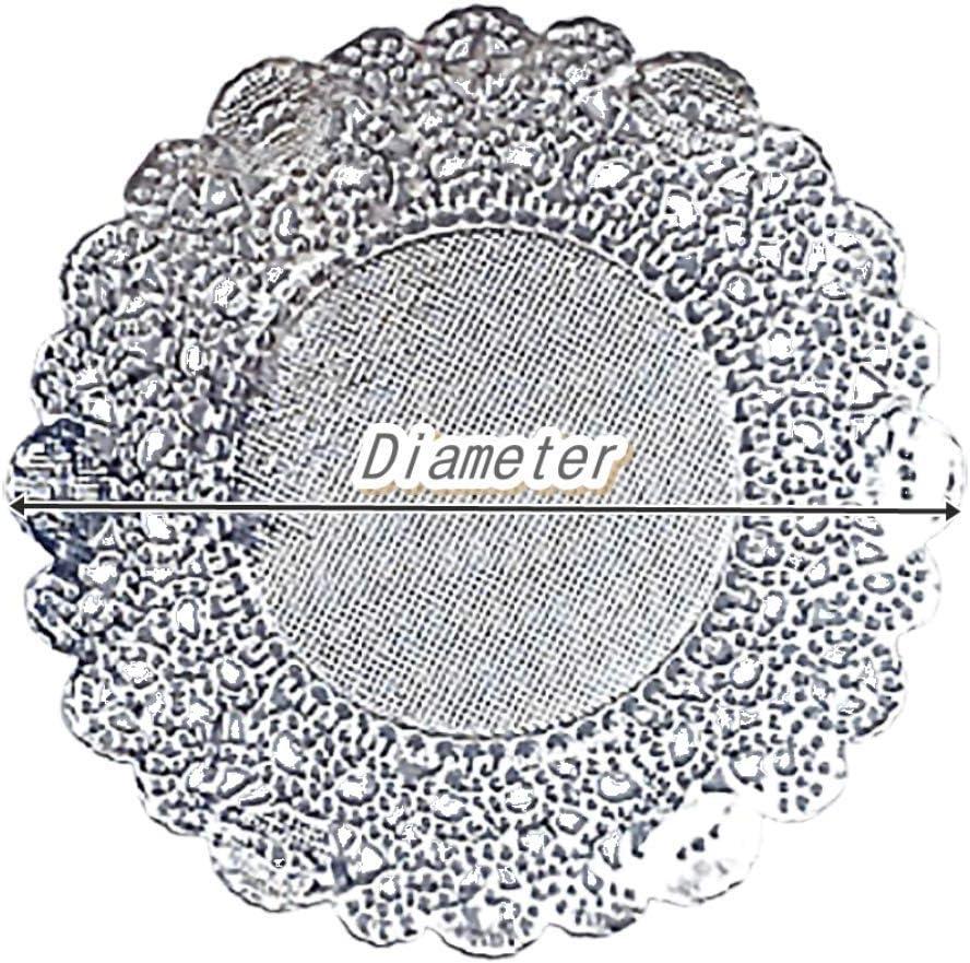 "Metallic Solid Color Paper Party Table Decoration 10.5/"" Round Doilies 3 COLORS"