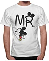 T-Shirt Uomo Idea Regalo San Valentino Mr. Topolino- Disp. Anche Donna