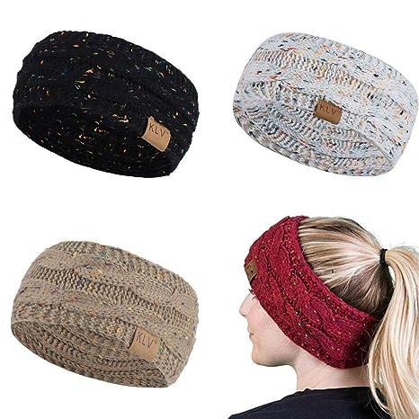 Voiks Diademas Vintage Elástico Impreso Head Wrap Elasticidad Mojado Hairband Trenzado Lindo Accesorios para el Cabello