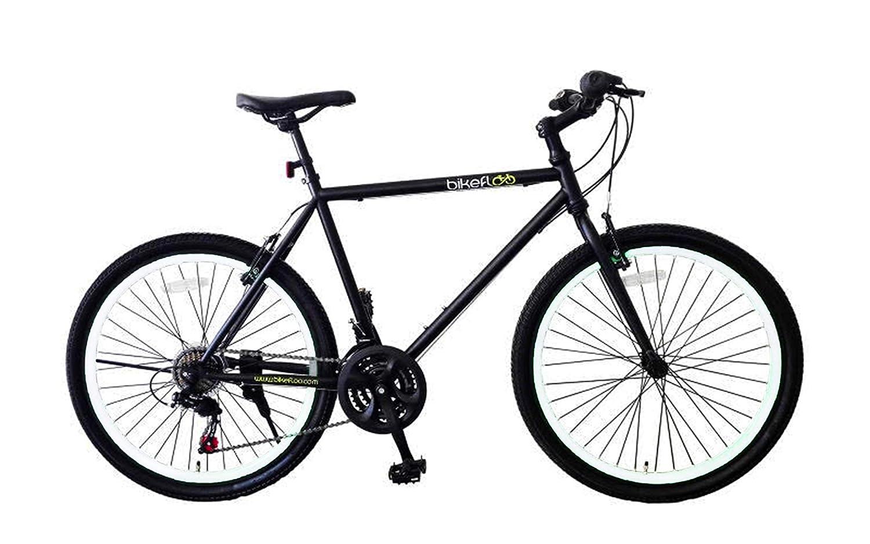 BikeFloo - Bicicleta de ciudad, unisex, con cuadro de aluminio y llantas de 26 pulgadasfluorescentes, mujer Hombre Unisex adulto, Bianco, X-Large