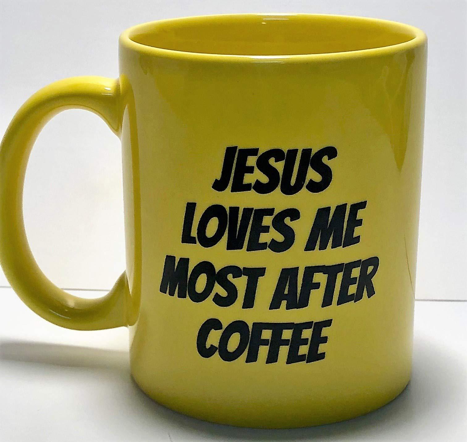 KoppingsKrew Jesus Loves Me Most After Coffee 11oz Mug by Koppingskrew (Image #2)