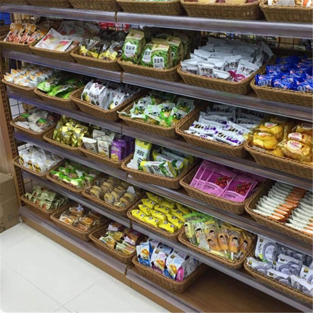 Cesta De Fruta Cesta De Rat/án Cesta De Fruta De Supermercado Cesta De Pan De Mimbre De Imitaci/ón Bamb/ú De Juego De Cesta Frutero Rectangular