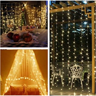 Lightess 600 led string lights indoor or outdoor curtain light 20 lightess led curtain lights string fairy lights for indoor or outdoor 600 leds warm white aloadofball Image collections