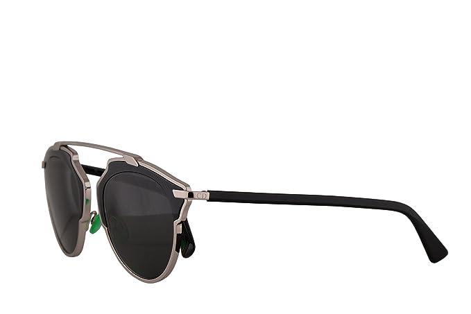 2fae2e4115 Image Unavailable. Image not available for. Colour  Christian Dior  DiorSoReal Sunglasses Palladium Black w Grey Lens ...