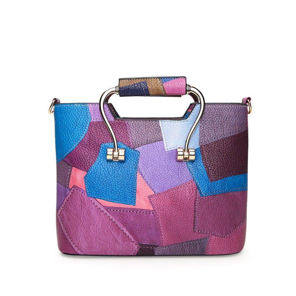 Summer Women'S Bag Style Street Single Shoulder Handbag,Violet,20X27X10Cm