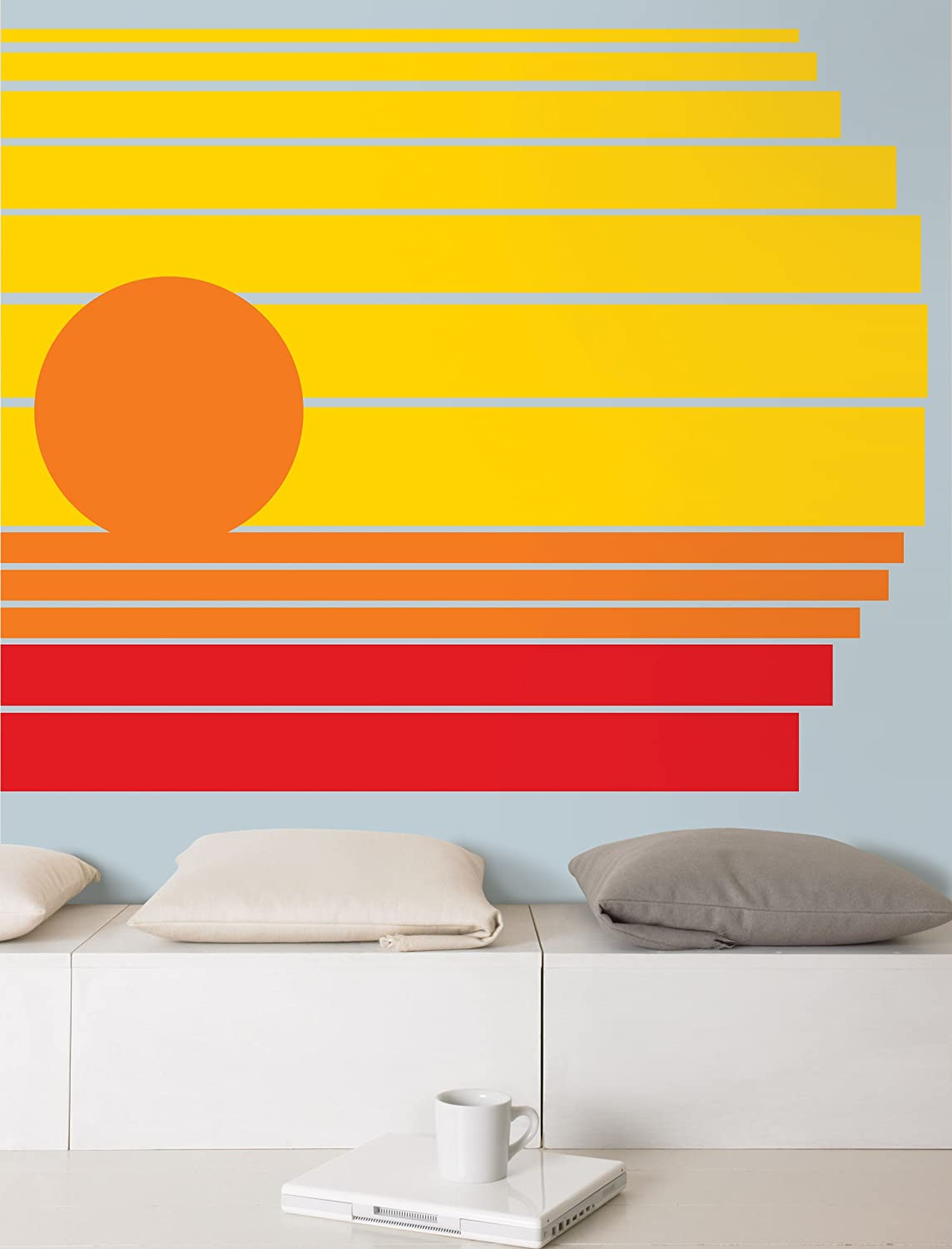Red Hot Stripe Decal - Decorative Wall Appliques - Amazon.com