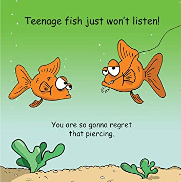 Twizler Funny Card For Teenager With Fish And Piercing Blank Card