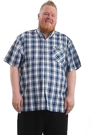 Brooklyn Imports LTD Hombre Talla Grande Casual Manga Corta Camisa con Bolsillo en Pecho Disponible en 2XL-6XL: Amazon.es: Ropa y accesorios