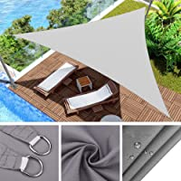 FC Waterproof Sun Shade Sail,UV & Water Resistant Patio Carport With 3 Tie Ropes Awning Canopy for Summer Cool Party…
