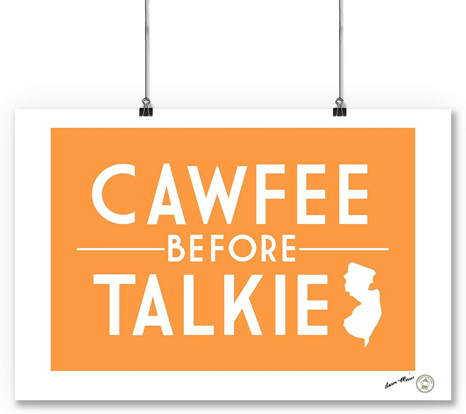 New Jersey Simply Said 83406 Cawfee before Talkie 16x24 SIGNED Print Master Art Print - Wall Decor Poster