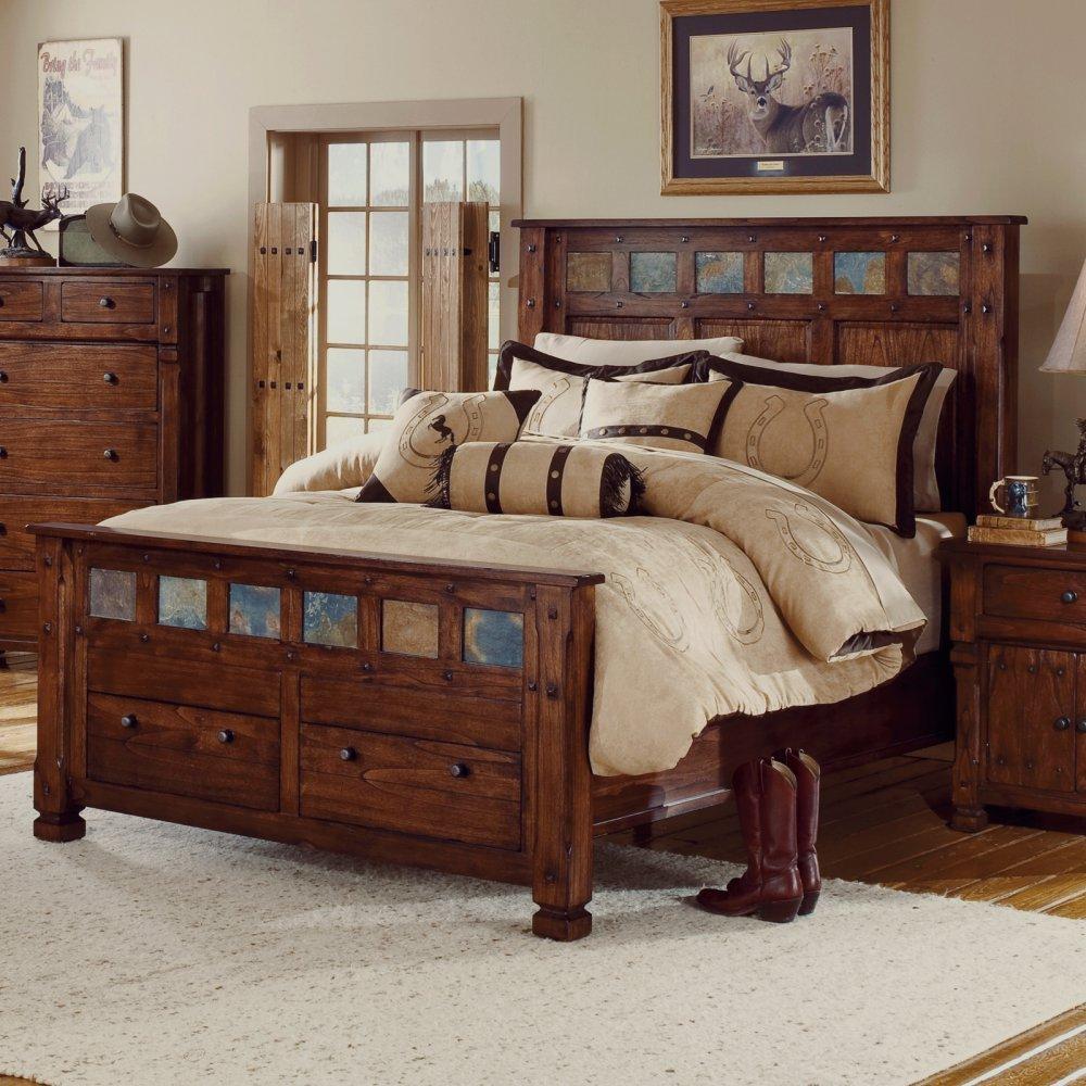 Santa fe wood platform storage bed in dark chocolate by sunny designs - Santa Fe Wood Platform Storage Bed In Dark Chocolate By Sunny Designs 56