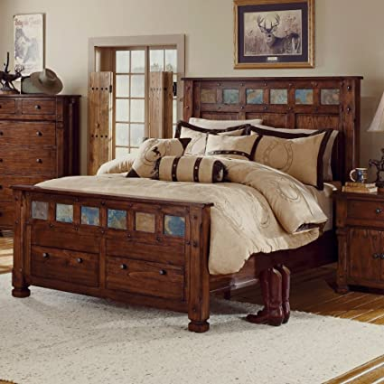 Amazon Sunny Designs Santa Fe Queen Bed Kitchen Dining Inspiration Sunny Designs Bedroom Furniture