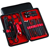 Manicure Set - Pedicure Tools and Nail Clippers - Professional Stainless Steel Nail Care Tools with Travel Case - 18 Pieces