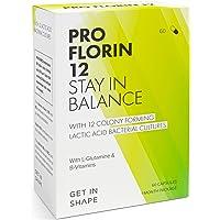 PRO FLORIN 12 - Complesso di 12 ceppi batterici vivi - fermenti lattici per l'equilibrio della flora intestinale e l'induzione degli enzimi digestivi - di Get In Shape