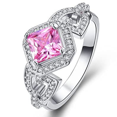 YAZILIND Engagement Heart Ring Colorful Crystal Bridal Anniversary Women Jewelry isIXC