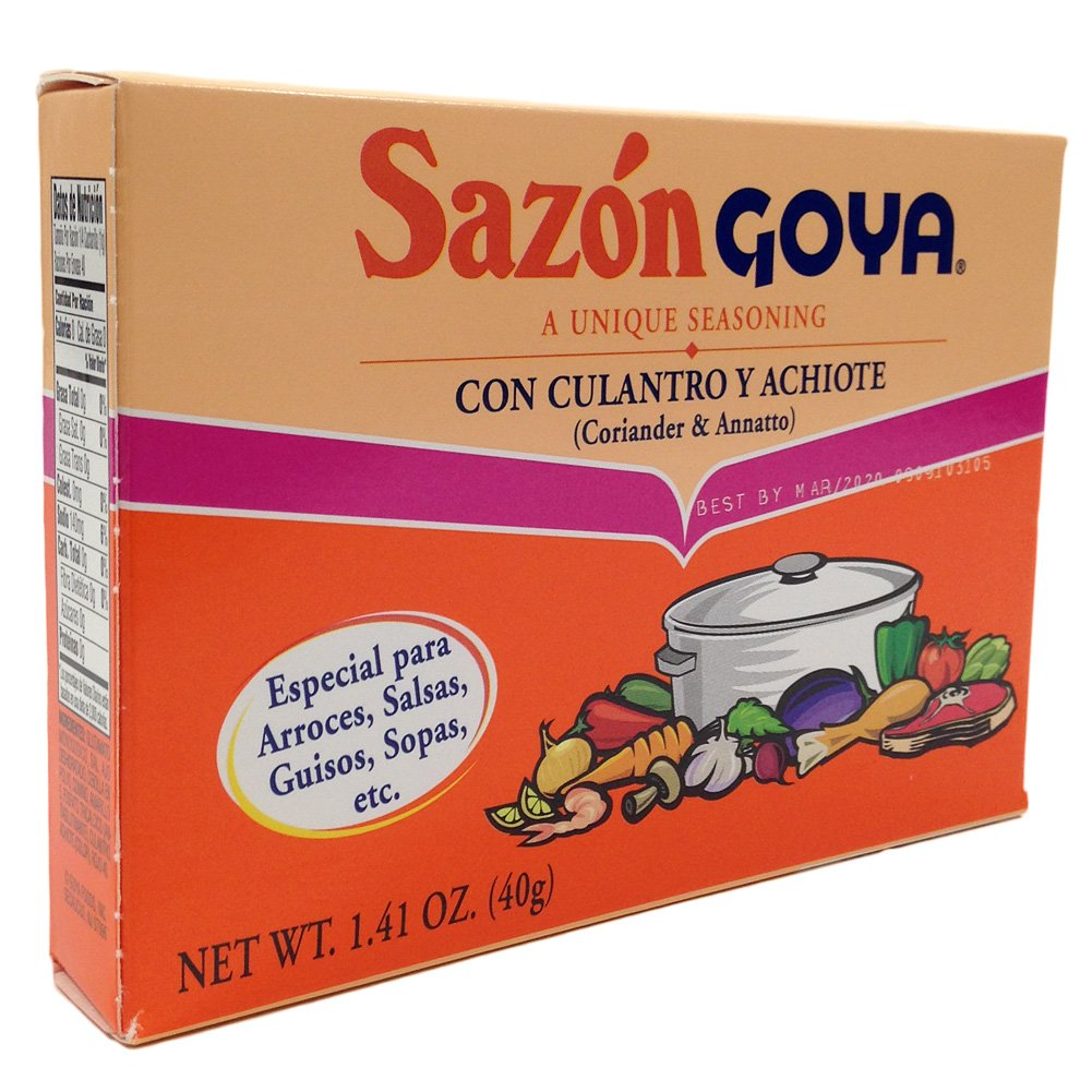 Amazon.com : Chefs Secret Ingredient Goya All Purpose Seasoning Bundle with Goya Adobo with Pepper 8 Oz, Sazon Goya Con Culantro Y Achiote 1.41 Oz, ...