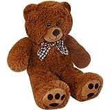 Gran Oso de peluche marrón, 50 cm - osito gigante con pelo suave - oso de peluche de alta calidad -Suave, sedoso y mullido - Fabricación de alta calidad