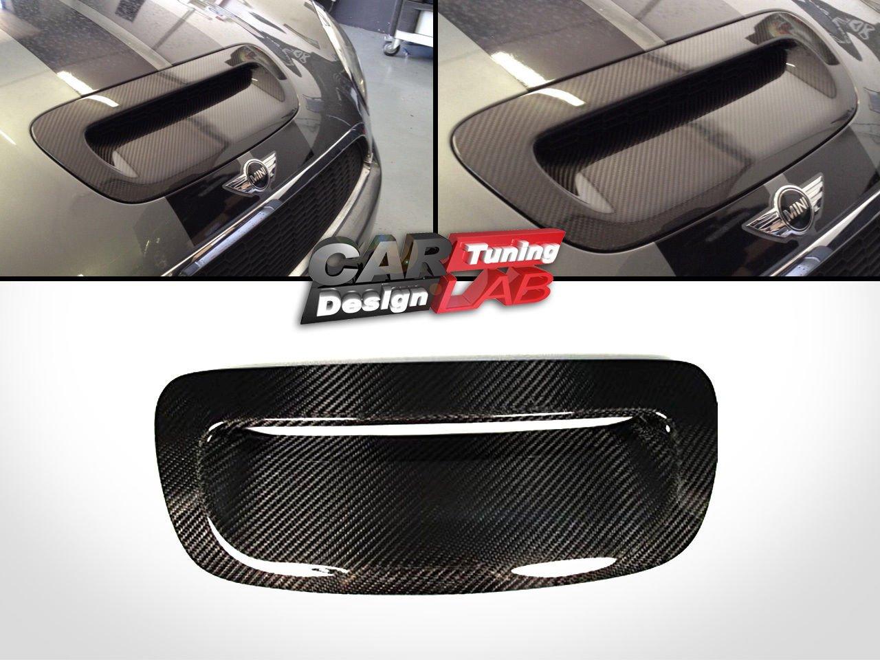 (1) Carbon Fiber Hood Grill Vent Cover for 2007-2013 Mini Cooper R55 R56 R57 R58 R59 CarLab