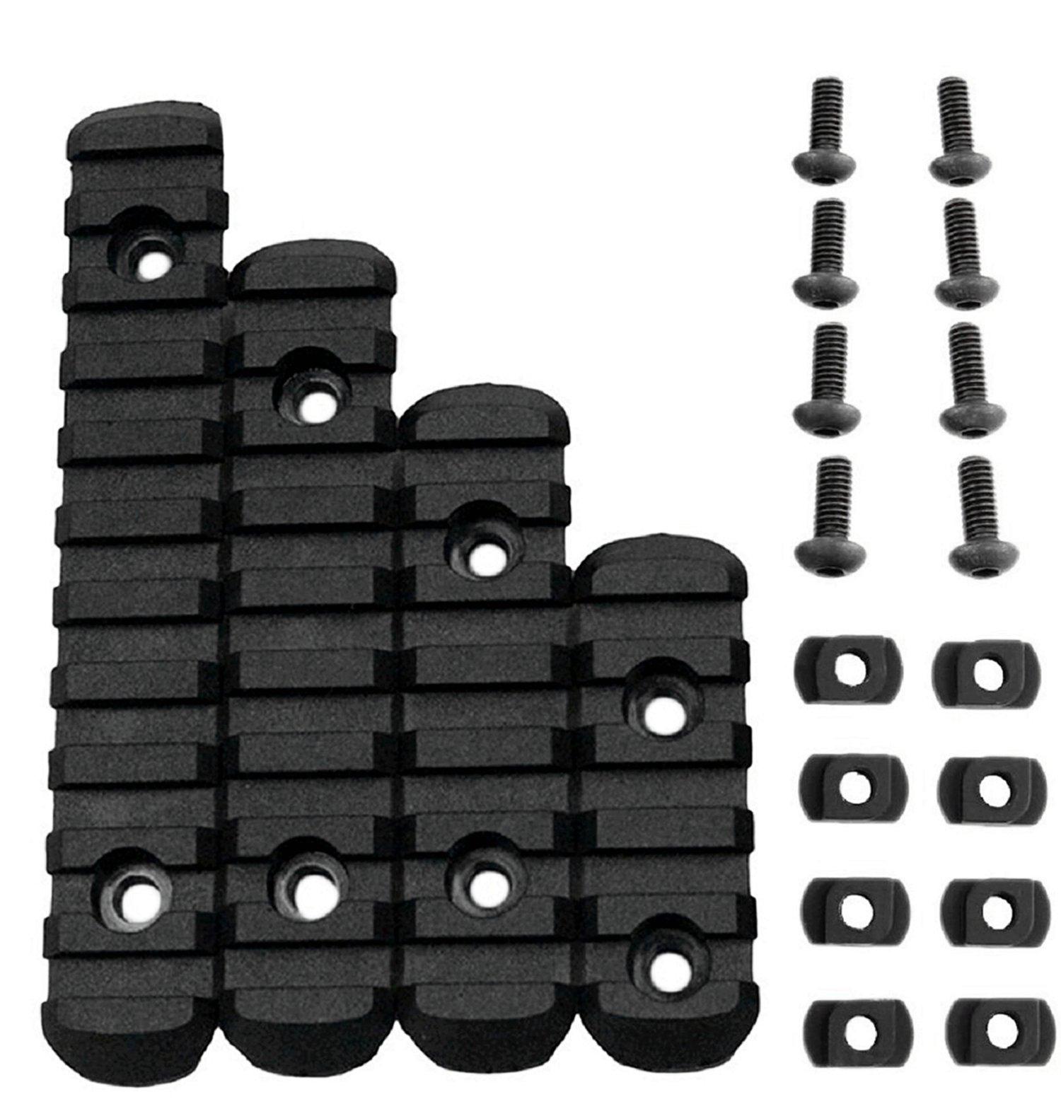 CRUSHUNT M-Lok Rail Section 5,7,9,11 Slot Polymer Picatinny/Weaver Rail Fits M-LOK Hand Guard