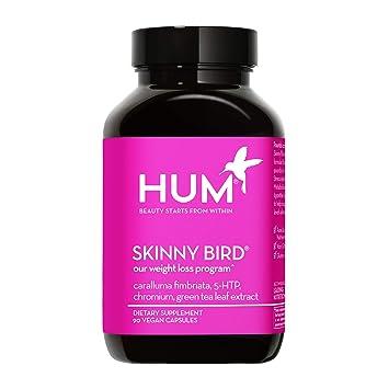HUM Skinny Bird - Green Tea Extract, Caralluma Fimbriata, Chromium & 5-HTP for Weight Management Support - Boost Metabolism, Help Minimize Stress Response & Curb Appetite (90 Vegan Capsules)
