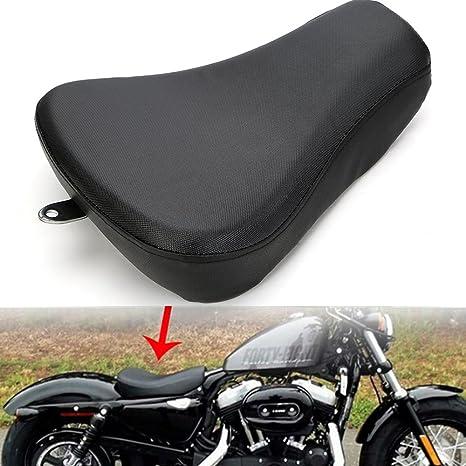 Motocicleta delantero trasero Asiento Rider pasajeros piel cojín para Harley Sportster XL 1200 883, por eclear - negro: Amazon.es: Coche y moto