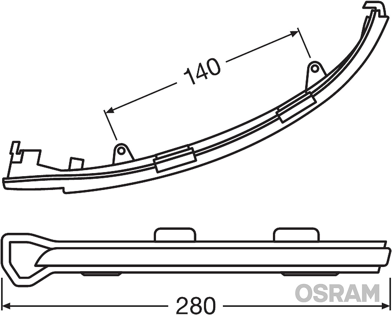 OSRAM LEDDMI 8V0 BK S LEDriving Intermitente din/ámico LED para retrovisor Set de 2 White Edition