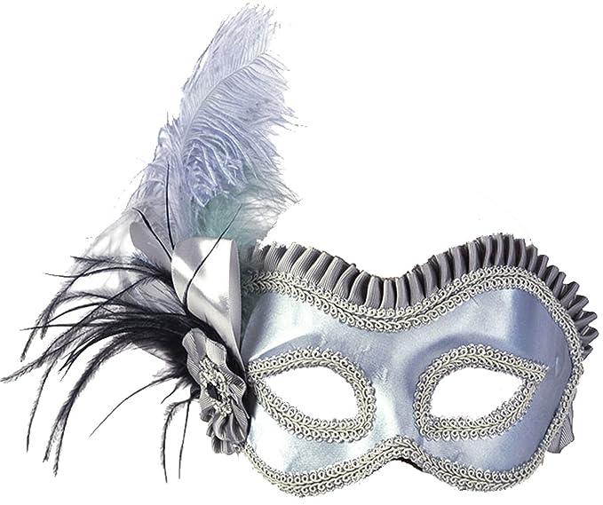 Adultos Fancy Dress Fiesta Veneciana Masquerade Ball mujeres lado máscara de plumas de Reino Unido