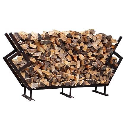Fire King, MDPRMFWR WC, Outdoor Premium Firewood Storage Rack With Kindling  Storage