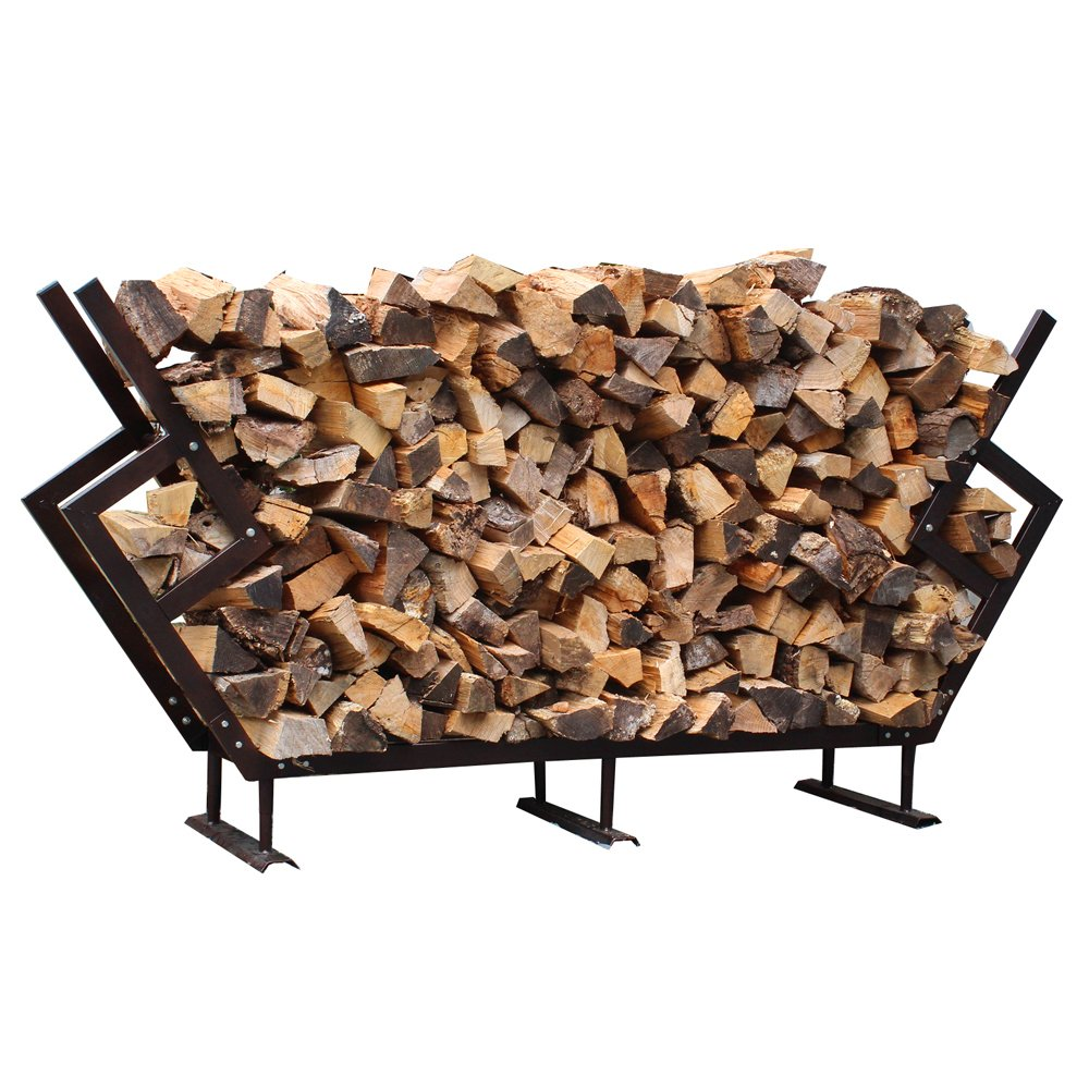 FireKing 89 by 54.5-Inch Premium Firewood Rack, Large, Bronze