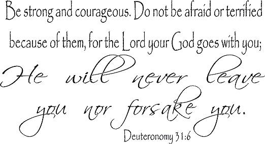 Jesus Wall Art Big Print Inspirational Bible Verses Deuteronomy 31:6