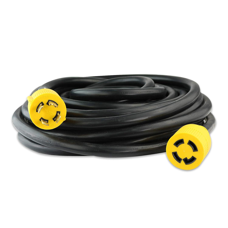Leisure Cords 4 Prong 25 Feet 30 Amp Generator Cord 10 Gauge Heavy Wiring Duty