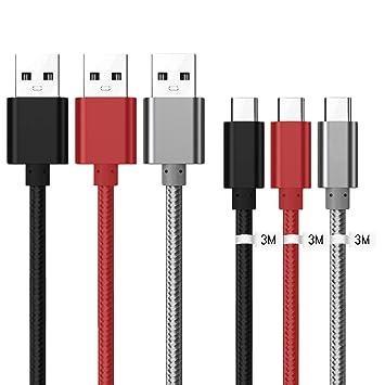 Kit Me Out® [3M 3 Pack [3.1A Cargador Rápida] Cable De Carga ...