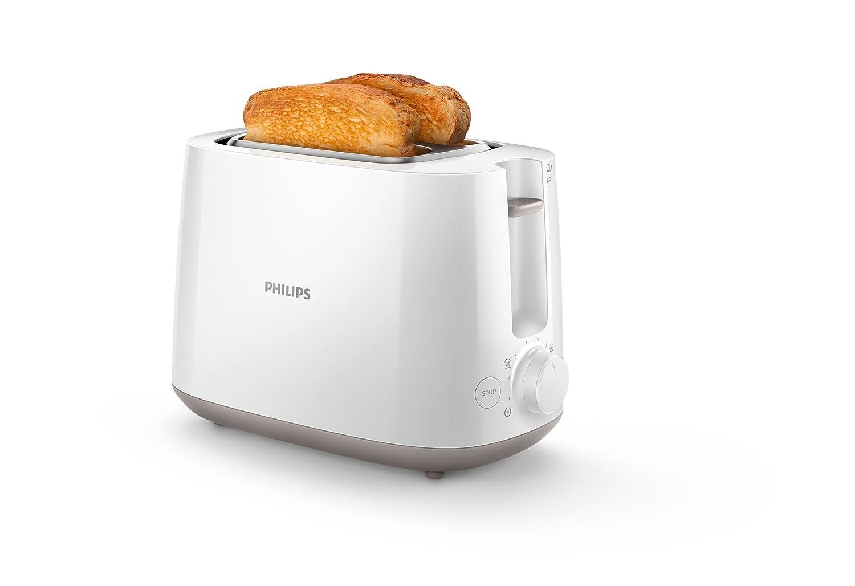 Philips HD Tostadora W ranuras niveles de tostado bandeja extraíble función para