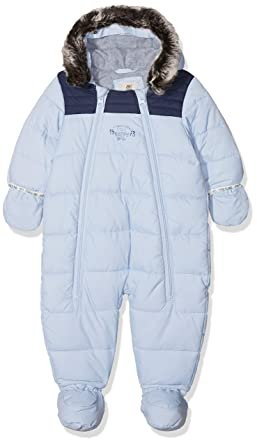 9f9ac4d70b Timberland Baby Boys' Combinaison Pilote Snowsuit, Blue (Azur), 3 Months
