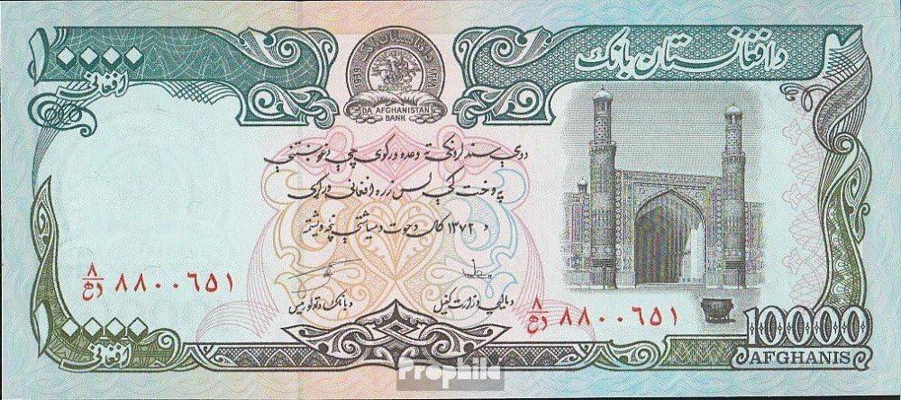 Prophila Billetes para coleccionistas: Afganistán Pick-No.: 63a UNC 1993 10000 Afghanis: Amazon.es: Juguetes y juegos