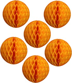 product image for 6-pack 5 Inch Gold Honeycomb Tissue Paper Balls