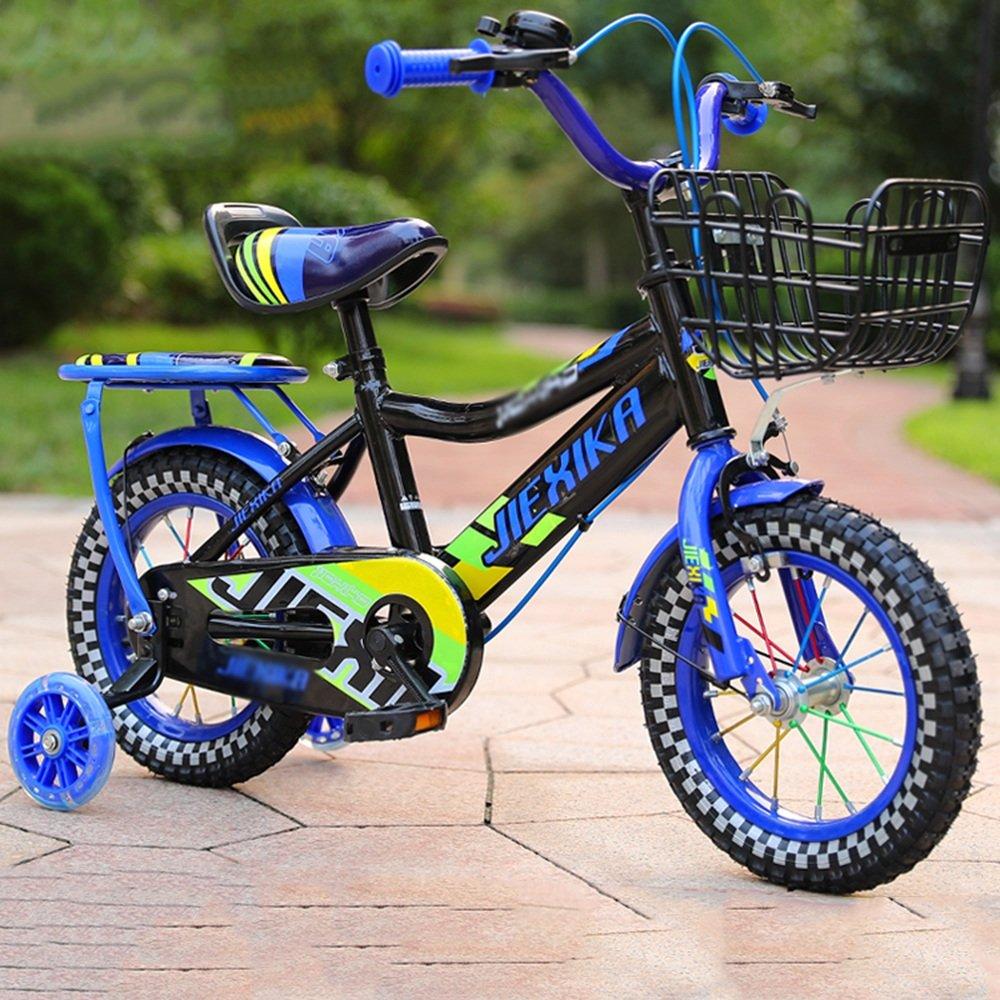HAIZHEN マウンテンバイク 子供用の自転車 トレーニングホイール付きユニセックス子供用自転車 様々なトレンディな機能 12 14 16 格安SALEスタート 青 inches おしゃれな男の子と女の子のための贈り物 新生児 お気にいる B07C3S3TMY 16および18インチ