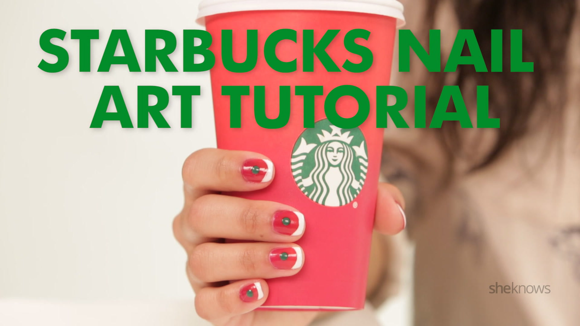 Starbucks Holiday Cup Nail Art Is The Latte Lover S New Obsession