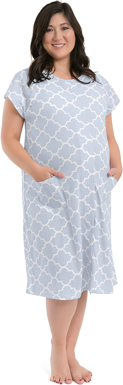 The Bravely Labor and Delivery Gown - Perfect Hospital Bag Gown for Maternity/Nursing/Labor