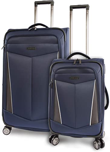 Perry Ellis Luggage Glenwood 2 Piece Set Expandable Suitcase