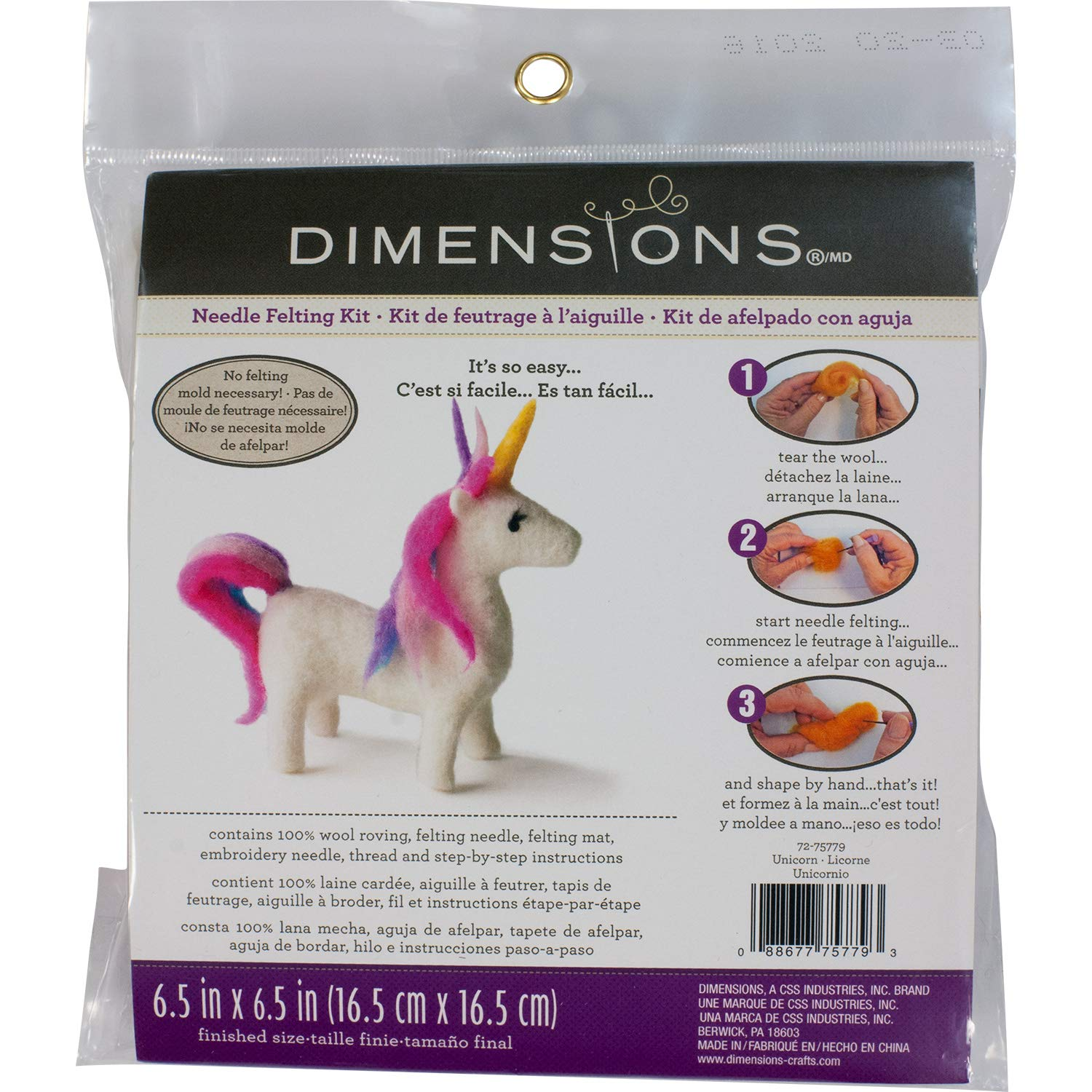 Dimensions Llama Felt Animals Needle Felting Craft Kit 4 x 6