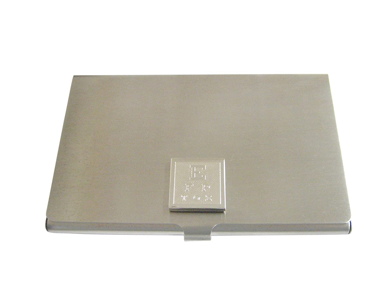Silver Toned Etched Optometristビジネスカードホルダー   B01K1H46BU