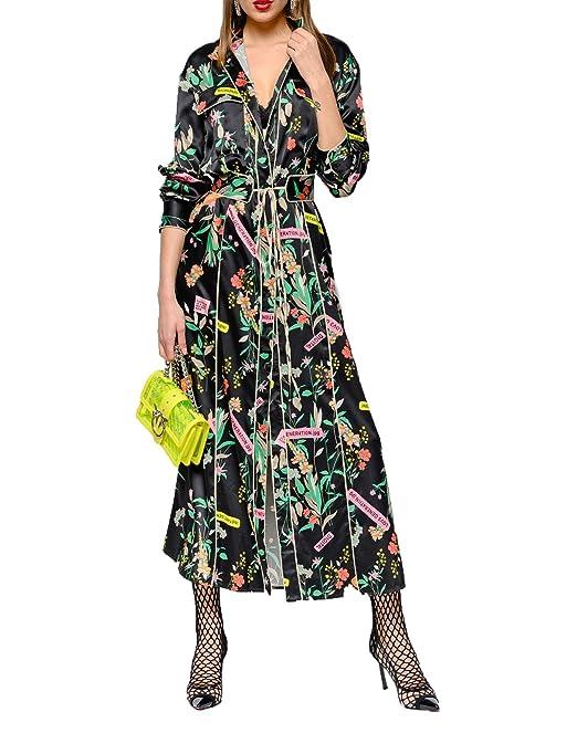 buy popular 2cb35 bb7c4 Pinko Rosalinda Abito Donna: Amazon.it: Abbigliamento