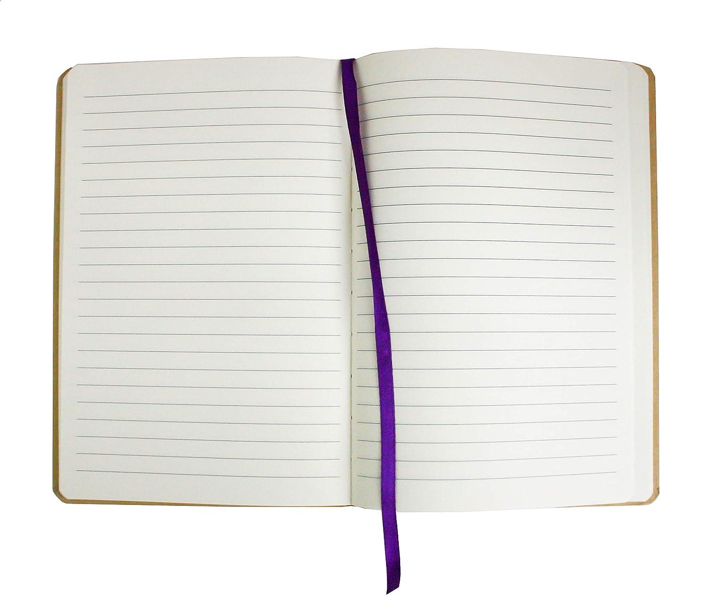 Emartbuy Marr/ón Diario de Tapa Dura Cuaderno Bloc Forrado A5 Escritura 80 P/áginas Con Banda El/ástica Paquete de 4 Lunares