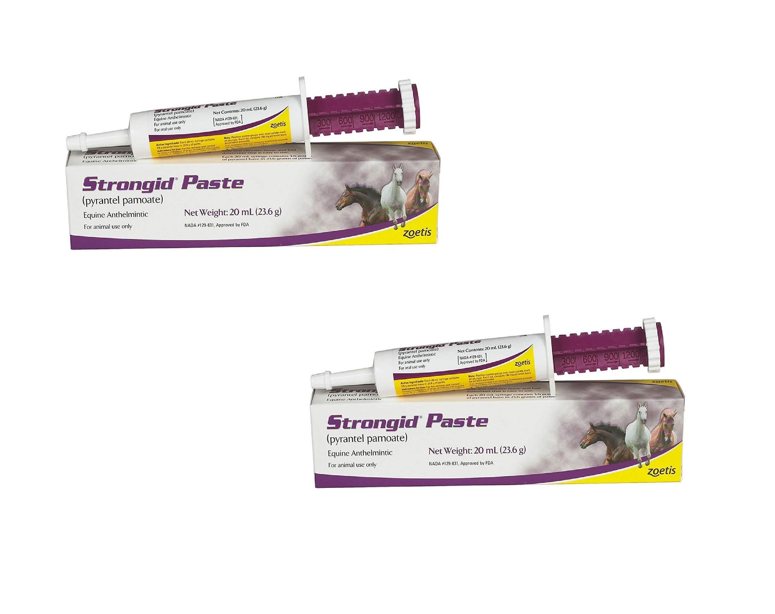 Pfizer Strongid Dewormer Paste for Horses, 23.6gm (2 Pack)