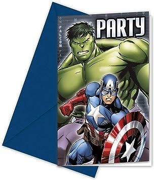 Pack 6 invitaciones fiesta Vengadores Avengers Marvel Assemble ...