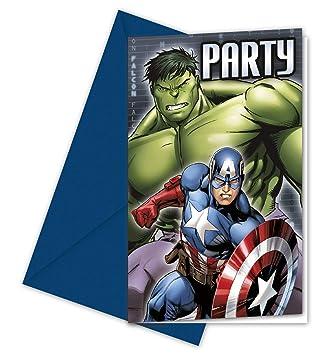 Pack 6 invitaciones fiesta Vengadores Avengers Marvel ...