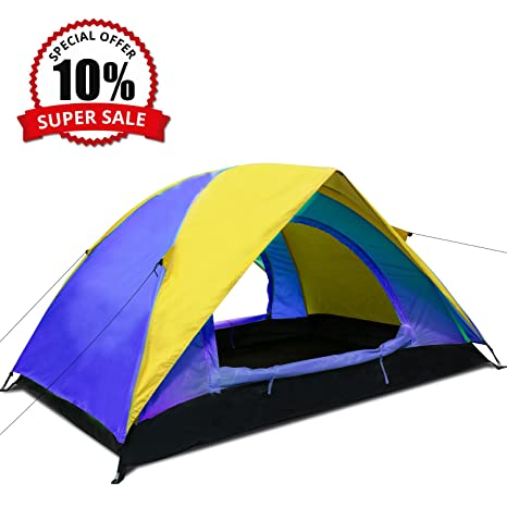 Argus Le Outdoor Camping Tent   Lightweight Portable Double Tent, 2 Doors 2  Person 4