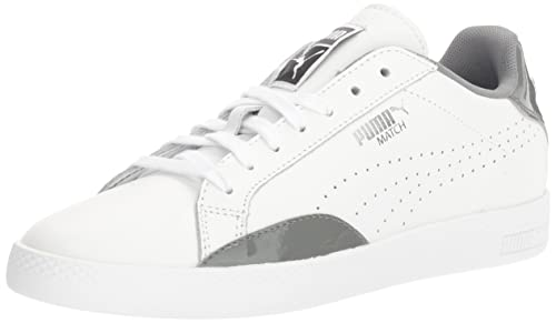 PUMA Women's Match Basic Sneakers, White/Quiet Shade, ...