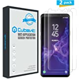Cubevit Galaxy S9 Screen Protector, [2-Pack][Case Friendly][No Lifted Edges] HD Clear Bubble Free Easy to Install Wet Applied TPU Film Screen Protector Cover for Samsung Galaxy S9 (Clear)